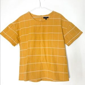 Roolee- Sunflower Yellow, white line, button back